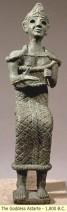 A statue of the Phoenician goddess, Astarte, 1800 BC